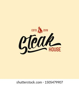 Steak house logo concept for restaurant or eatery, prefessional services for branding your company, organization, event and business