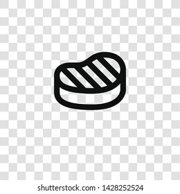 steak icon from miscellaneous collection for mobile concept and web apps icon. Transparent outline, thin line steak icon for website design and mobile, app development