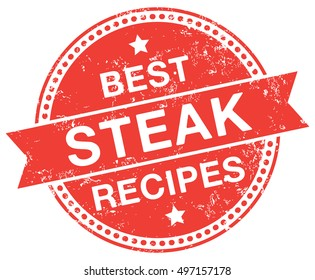 Steak Recipes stamp