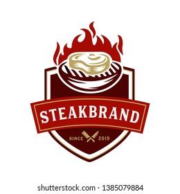 Steak store logo template - logo design templates for meat store, charcuterie, deli shop, butchery market