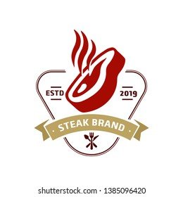 Steak store logo template - logo design templates for meat store, charcuterie, deli shop, butchery market