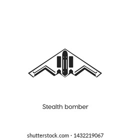 stealth bomber icon vector symbol sign