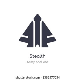stealth icon. isolated stealth icon vector illustration from army and war collection. editable sing symbol can be use for web site and mobile app