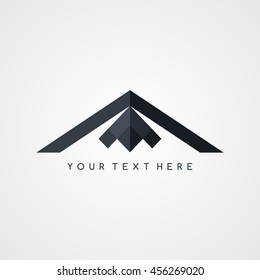 stealth logo - aircraft airplane logotype