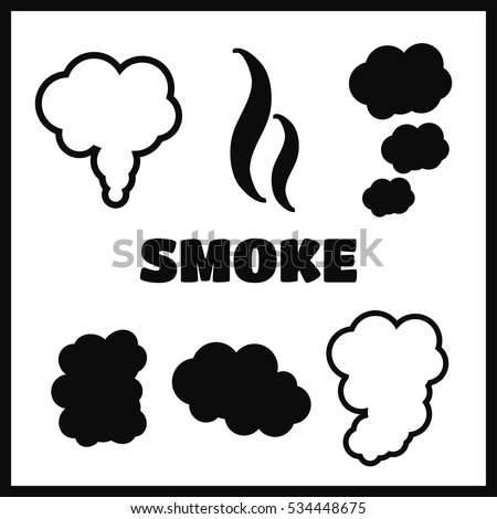 steam cloud smoke vector icons set stock vector royalty free rh shutterstock com smoke vector image smoke vector ai