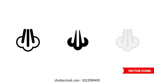 Steam icon of 3 types: color, black and white, outline. Isolated vector sign symbol.