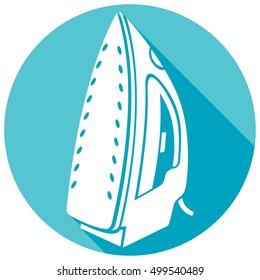 steam iron flat icon
