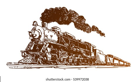 Steam Locomotive Sketch