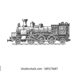 Steam locomotive. Vector format
