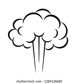 Steam puff vector icon illustration isolated on white background
