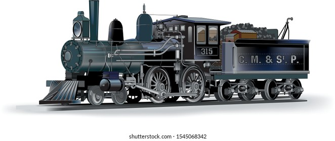 steam train facing to the left