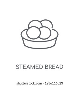 Steamed Bread linear icon. Modern outline Steamed Bread logo concept on white background from Culture collection. Suitable for use on web apps, mobile apps and print media.
