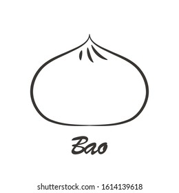 Steamed Bun logo design. Steamed Bun vector. Steamed Bun doodle symbol.