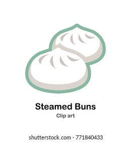 steamed buns clip art
