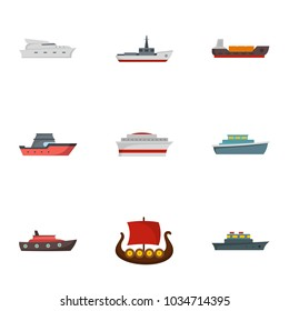 Steamer icons set. flat set of 9 steamer icons for web isolated on white background