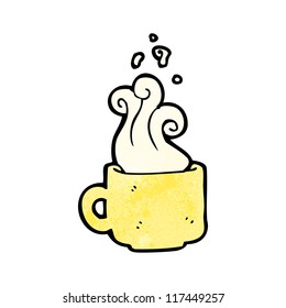 steaming cup of coffee cartoon