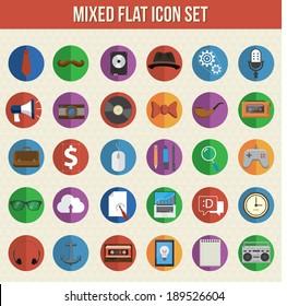 Steampunk icons for digital marketing