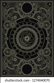 Steampunk poster template are applicable for using on shirt design, poster, CDDVD cover, skate desk and other creative applications