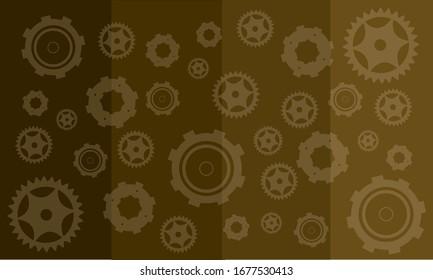 steampunk wallpaper gears pattern texture vector