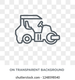 Steamroller icon. Trendy flat vector Steamroller icon on transparent background from Construction collection. High quality filled Steamroller symbol use for web and mobile