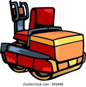 Steamroller.Vector illustration