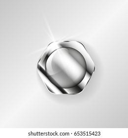 Steel bolt nut image. Vector illustration EPS10