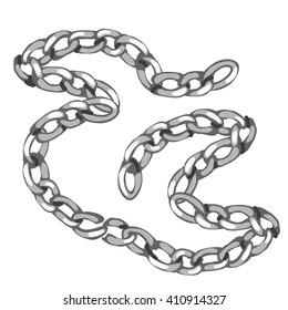 Steel chain. Vector illustration.