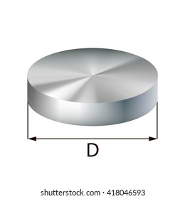 Steel disc industrial metal object. Vector illustration. EPS 10.