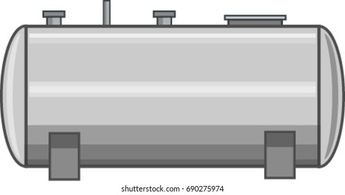 Steel Fuel Tank Vector