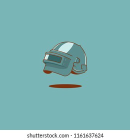 steel helmet full face pubg vector illustration