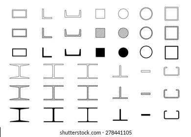 steel icons set on white background.