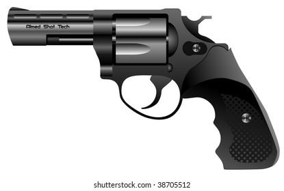 steel revolver vector