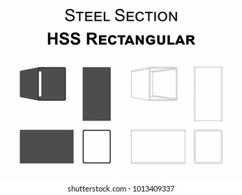 Steel Section HSS Rectangular