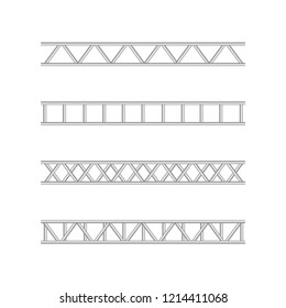 Steel truss girderstructure. Metal framework for billboard vector