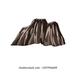 steep cliffs, rocky hills, rocky mountain vector