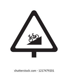 steep descent sign icon. Trendy steep descent sign logo concept on white background from Traffic Signs collection. Suitable for use on web apps, mobile apps and print media.