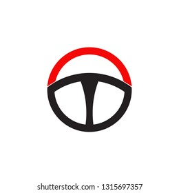Steering icon vector design template on white background