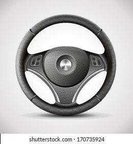 steering wheel, detailed realistic vector