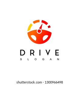 Steering Wheel, Drive Logo Design Inspiration