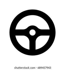Steering wheel icon.