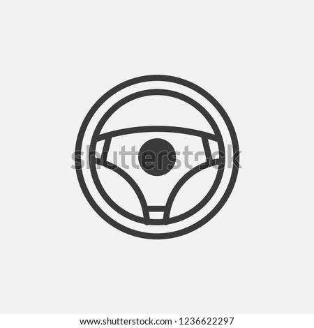 Steering wheel icon Car