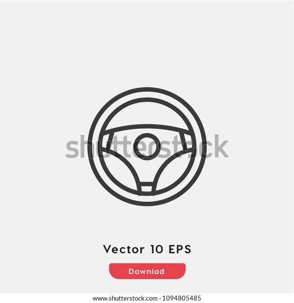 Steering Wheel Icon Car Auto Vector Stock Vector (Royalty ... - photo#29