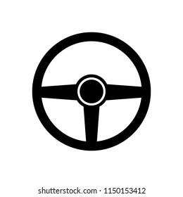 Steering wheel icon, logo