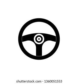 Steering wheel icon vector