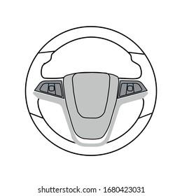 steering wheel icon. Vector illustration