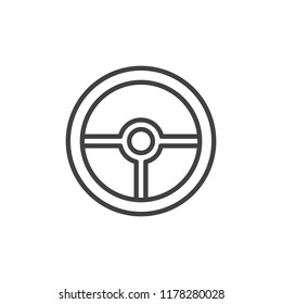 Steering wheel outline icon. linear style sign for mobile concept and web design. Car rudder line vector icon. Symbol, logo illustration. Pixel perfect vector graphics