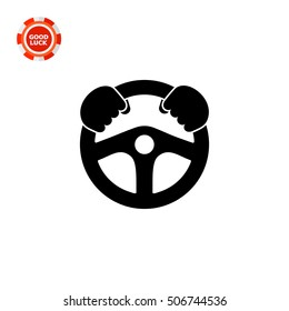 Steering wheel simple icon