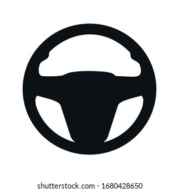 steering wheel symbol. Vector illustration