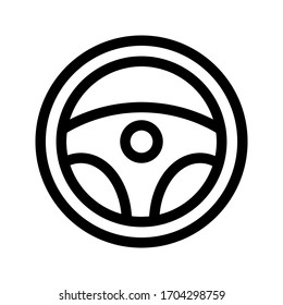 Steering wheel vector icon on white background