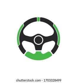 Steering Wheel vector image logo